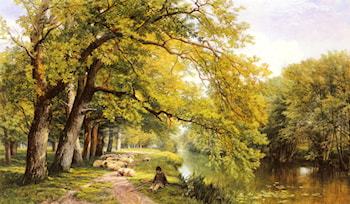 At Ockman, Surrey in Summer by Frederick William Hulme