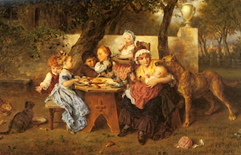 The Birthday Party by Ludwig Knaus