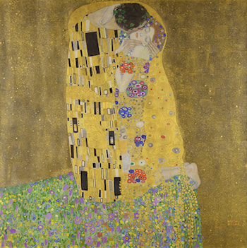 The Kiss (Lovers) by Gustave Klimt