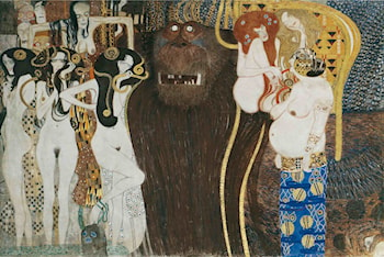 The Beethoven Frieze (detail): The Hostile Powers by Gustave Klimt