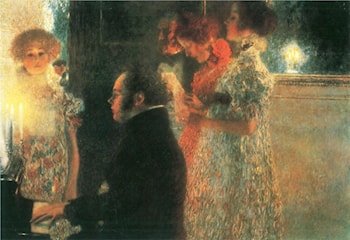 Schubert at the Piano II by Gustave Klimt