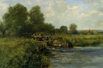 The River Thames at Pangbourne by Henry John Yeend King