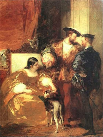 Francis I and the Duchess of Etampes by Richard Parkes Bonington