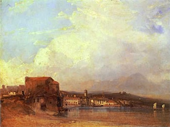 Lake Lugano by Richard Parkes Bonington