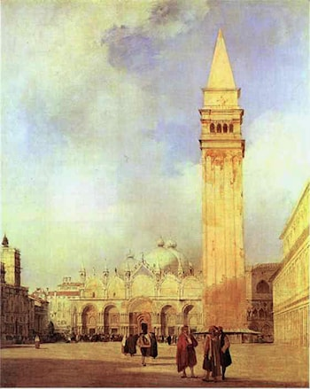 Piazza San Marco, Venice by Richard Parkes Bonington