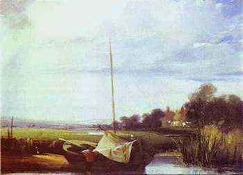 River Scene in France by Richard Parkes Bonington