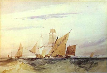 Shipping Off the Coast of Kent by Richard Parkes Bonington