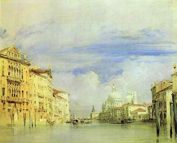 Venice. The Grand Canal. by Richard Parkes Bonington