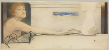 The Offering by Fernand Khnopff