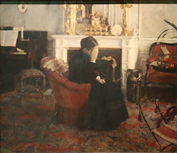 Listening to Music by Schumann by Fernand Khnopff