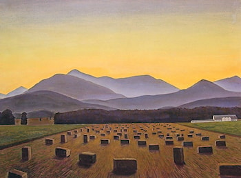 Hay Bales, Evening, Below Whiteface by Rockwell Kent