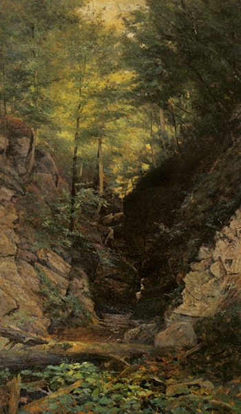 Wooded Interior by John Frederick Kensett