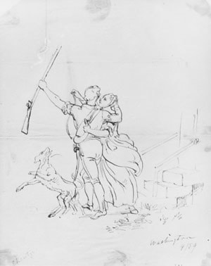 The Soldier's Farewell (from McGuire Scrapbook) by Emanuel Gottlieb Leutze
