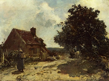 In the Vicinity of Nevers by Johan Barthold Jongkind