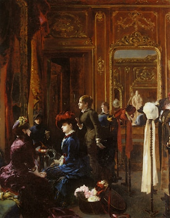 Un Salon de Modes a Paris by Louis Robert Carrier-Belleuse
