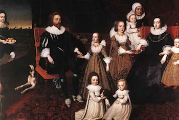 Sir Thomas Lucy and his Family by Cornelius Janssens (Johnson) Ceulen