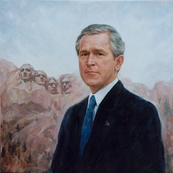 Portrait of President George W. Bush 43rd President of the United States of America by Igor V. Babailov