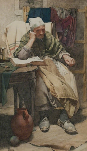 Time Moveth Not, our Being 'tis that Moves by Walter Langley