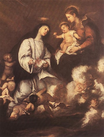 St. Rose of Lima before the Madonna by José Antolinez