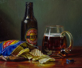Beer and Chips by Ann Morton