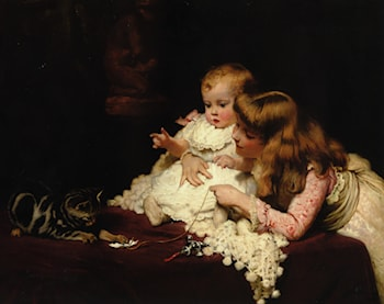 Playmates by Charles Burton Barber