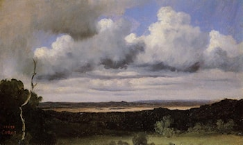 Fontainebleau, Storm over the Plains by Jean-Baptiste-Camille Corot