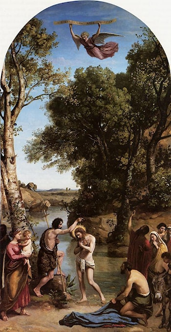 The Baptism of Christ by Jean-Baptiste-Camille Corot