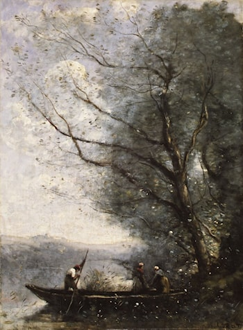 The Ferryman by Jean-Baptiste-Camille Corot