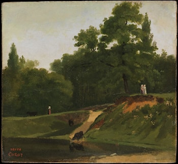 Banks of the Stream near the Corot Property, Ville d'Avray by Jean-Baptiste-Camille Corot