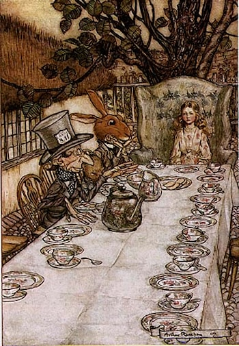 Alice in Wonderland: A Mad Tea Party by Arthur Rackham