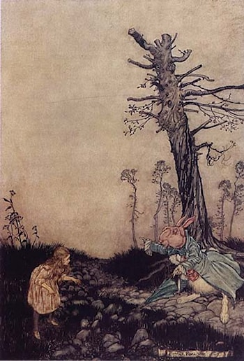 Alice in Wonderland: Down the Rabbit Hole by Arthur Rackham