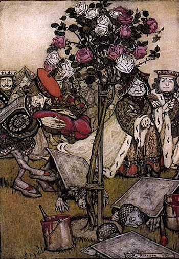 Alice in Wonderland: The Queen's Croquet Ground by Arthur Rackham