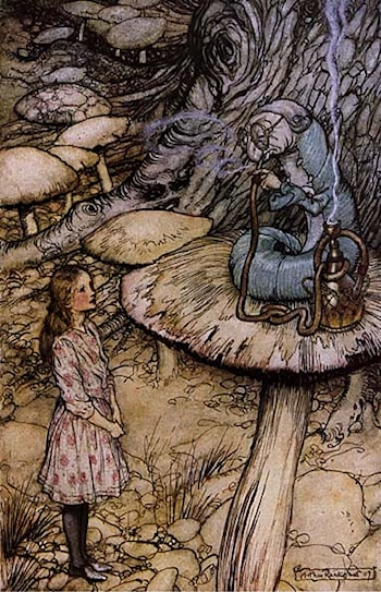 Alice in Wonderland: The Rabbit Sends in a Little Bill by Arthur Rackham