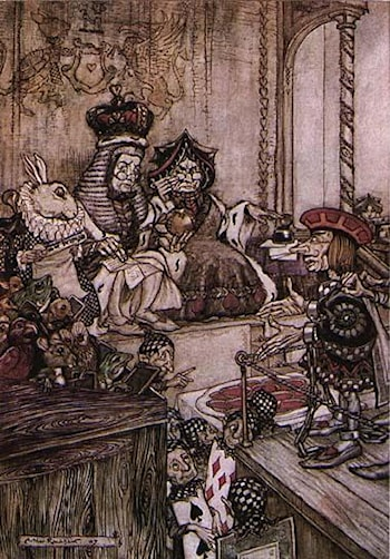 Alice in Wonderland: Who Stole the Tarts? by Arthur Rackham