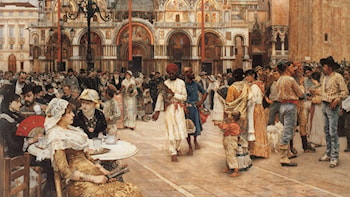 Piazza of St Mark's, Venice by William Logsdail