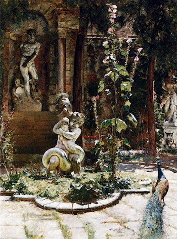 The Garden Of The Palazzo Malipiero by William Logsdail