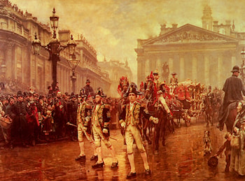 Sir James Whitehead's Procession, 1888 by William Logsdail