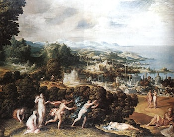 Orpheus and Eurydice by Niccolo dell' Abbate
